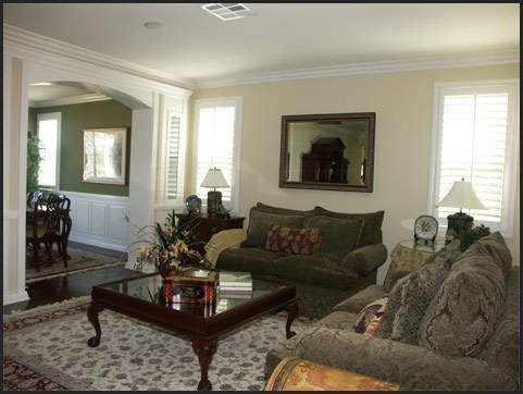 Traditional living room in Temecula