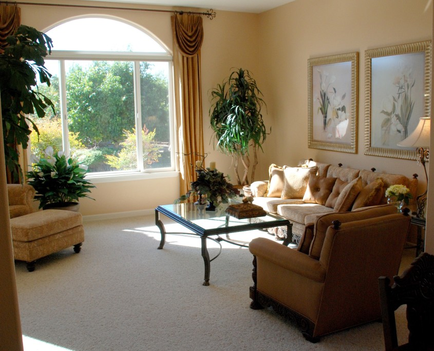 Traditional living room in the Temecula wine country