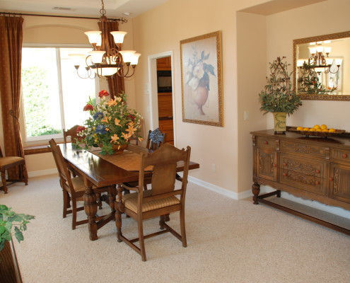 Traditional dining room in the Temecula wine country