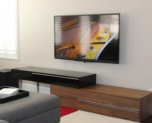 Modern entertainment cabinet form Modloft.