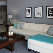 Modern family room, Oceanside, CA