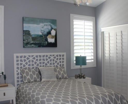 Modern guest bedroom in Oceanside, CA