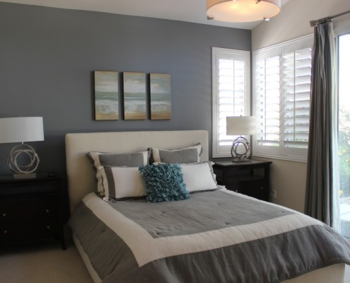 Modern master bedroom in Oceanside, CA