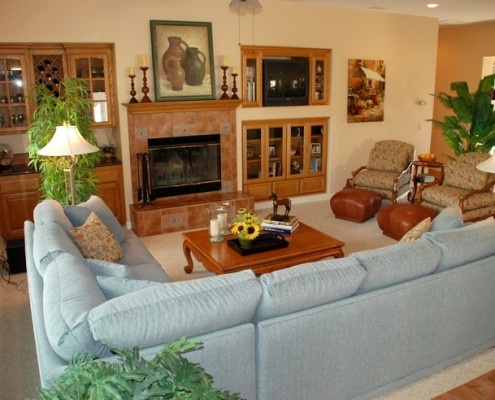 Transitional family room in the Temecula wine country