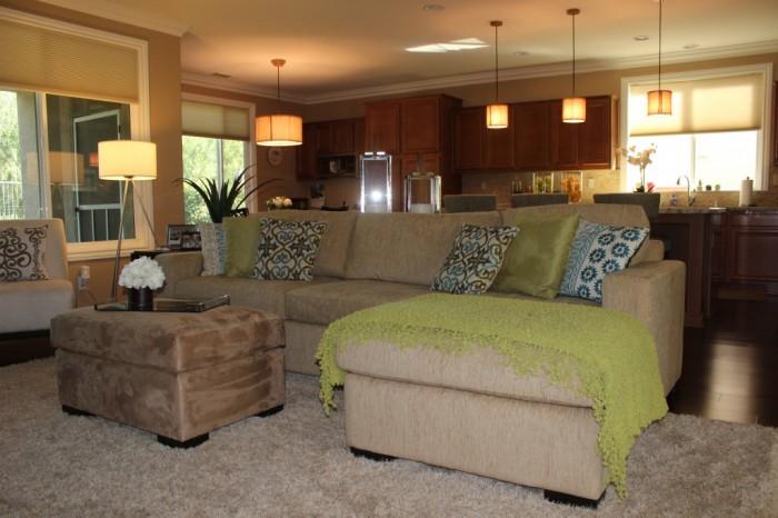 Modern family room, Menifee, CA
