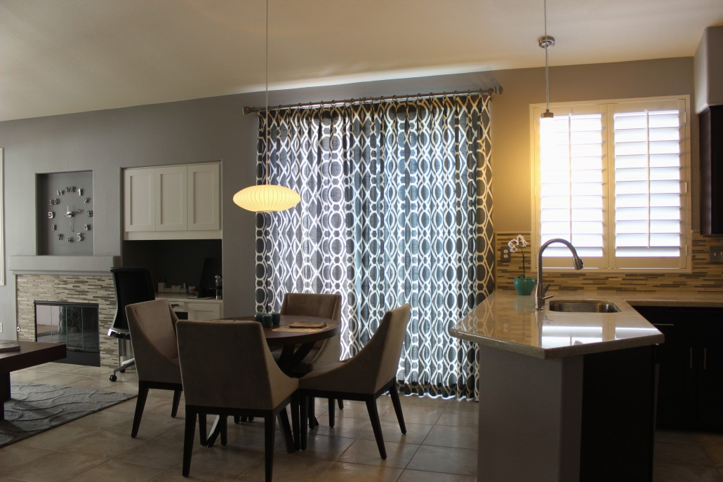 Custom window treatments rancho interior design for Custom window design